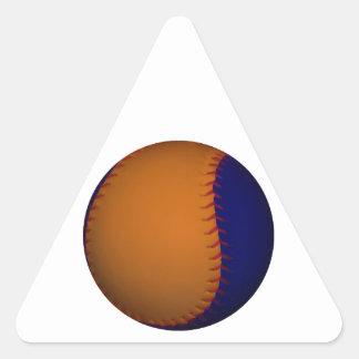 Orange and Blue Baseball Triangle Sticker