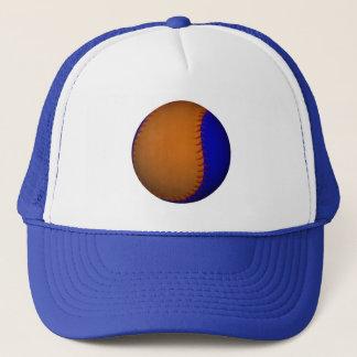 Orange and Blue Baseball Trucker Hat