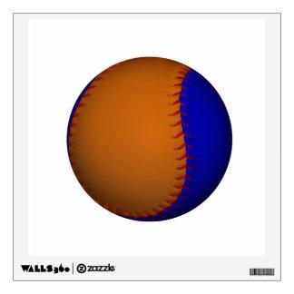 Orange and Blue Baseball Wall Sticker