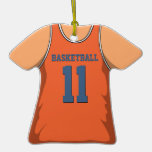Orange and Blue Basketball Jersey 11 V1 Christmas Tree Ornament