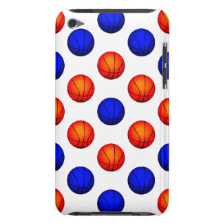 Orange and Blue Basketball Pattern Barely There iPod Case