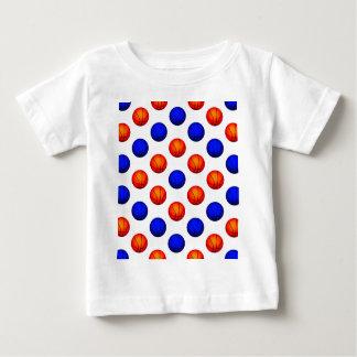 Orange and Blue Basketball Pattern Infant T-shirt