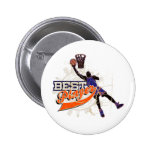 Orange and Blue Basketball Tshirts and Gifts Pinback Buttons