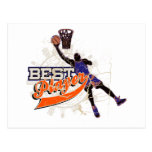 Orange and Blue Basketball Tshirts and Gifts Postcard