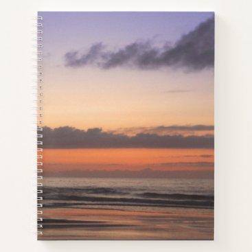 Beach Themed Orange and Blue Beach Sunrise Notebook