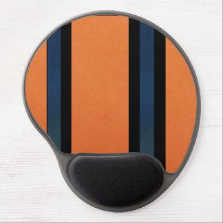 Orange and Blue Bold Stripes Gel Mouse Pad