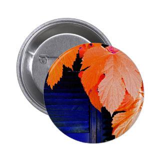 Orange and Blue 2 Inch Round Button