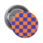 Orange and Blue Checkers Pins