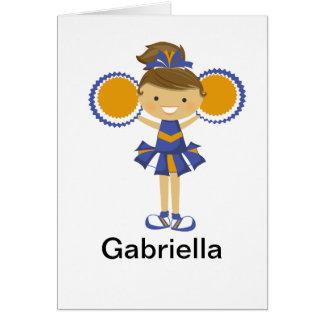 Orange and Blue Cheerleader Notecard