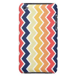 Orange And Blue Chevron Geometric Designs Color iPod Case-Mate Case