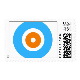 Orange and Blue circles Postage Stamp