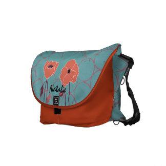 Orange and Blue Customized Poppy Rickshaw Bag Courier Bags