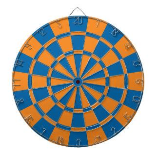 Orange And Blue Dartboard