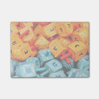 Orange and Blue Dreidels Post-it® Notes