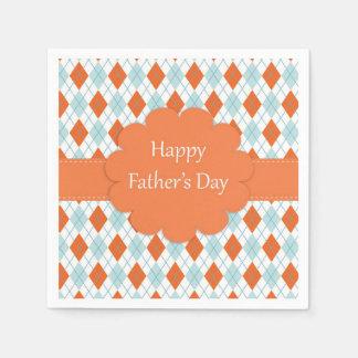 Orange and Blue Father's Day Napkins Disposable Napkin