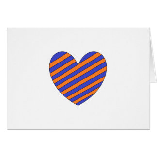 Orange and Blue Heart Greeting Card