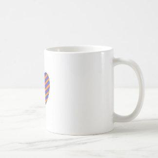 Orange and Blue Heart Classic White Coffee Mug