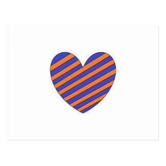 Orange and Blue Heart Postcard