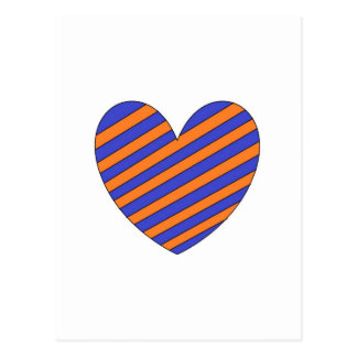 Orange and Blue Heart Post Cards