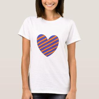 Orange and Blue Heart T-Shirt