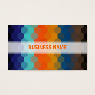 Orange and Blue Hexagon Seamless Pattern 2 Business Card