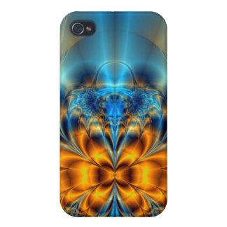 Orange and blue iPhone 4/4S case