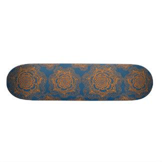 Orange and Blue Mandala Pattern Custom Skate Board