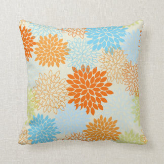 Decorative Pillows Orange And Blue : Orange And Blue Pillows - Decorative & Throw Pillows Zazzle