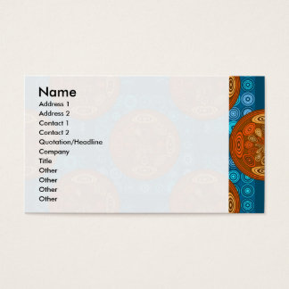 Orange and blue pattern business card