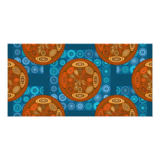 Orange and blue pattern card