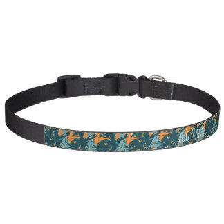 Orange and Blue Pattern Dog Collar