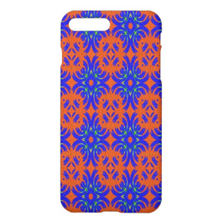 Orange and blue pattern iPhone 7 plus case