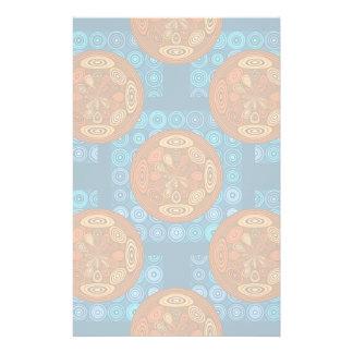 Orange and blue pattern stationery