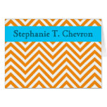 Orange and Blue Personal Note Card