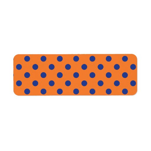 Orange and Blue Polka Dots Label