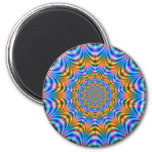 Orange and Blue Psychedelic Rings Magnet