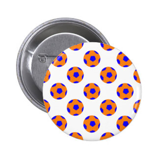 Orange and Blue Soccer Ball Pattern Pins