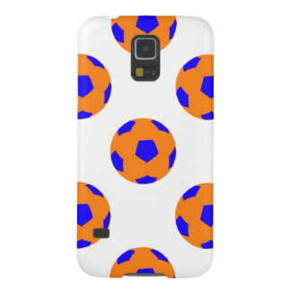 Orange and Blue Soccer Ball Pattern Case For Galaxy S5