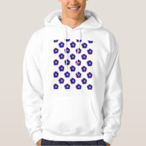 Orange and Blue Soccer Ball Pattern Hoodie