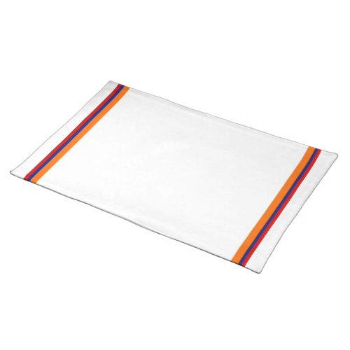 Orange and Blue Solid Stripe Placemat