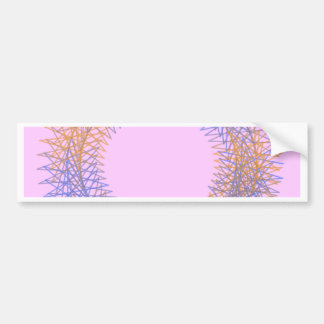 Orange and blue spiky spirograph bumper sticker
