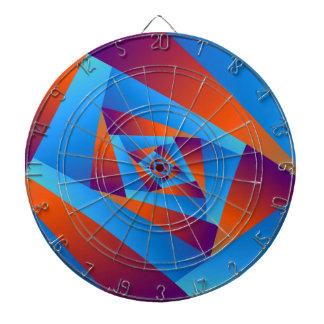 Orange and Blue Spiral Dartboard