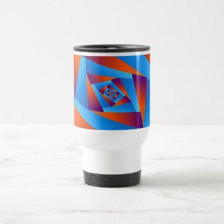 Orange and Blue Spiral Mug