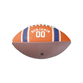 Orange and Blue Sports Jersey Stripes Football