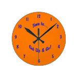 Orange and Blue Sports Wall Clock