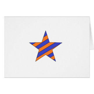 orange and blue star greeting cards