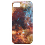 Orange and blue star cluster with twinkling stars iPhone 5 covers