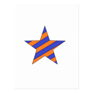 orange and blue star post cards