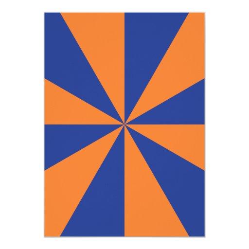 Orange and Blue Starburst Personalized Invite