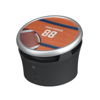 Orange and Blue Stripes Jersey Football Bluetooth Speaker